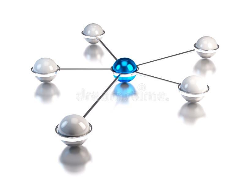 Принципиальная схема сети иллюстрация штока