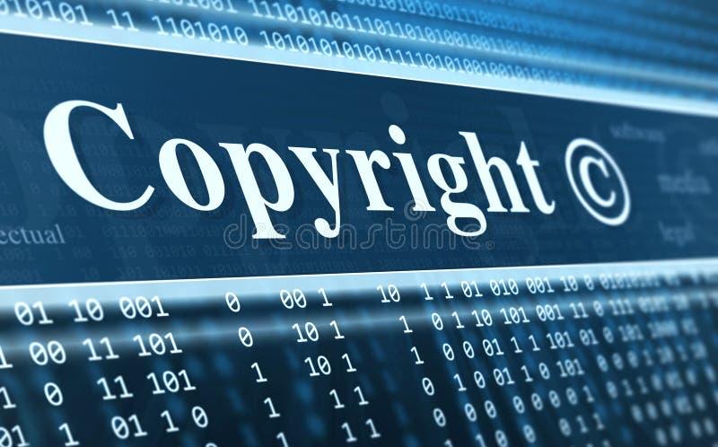 Принципиальная схема сообщения авторского права бесплатная иллюстрация