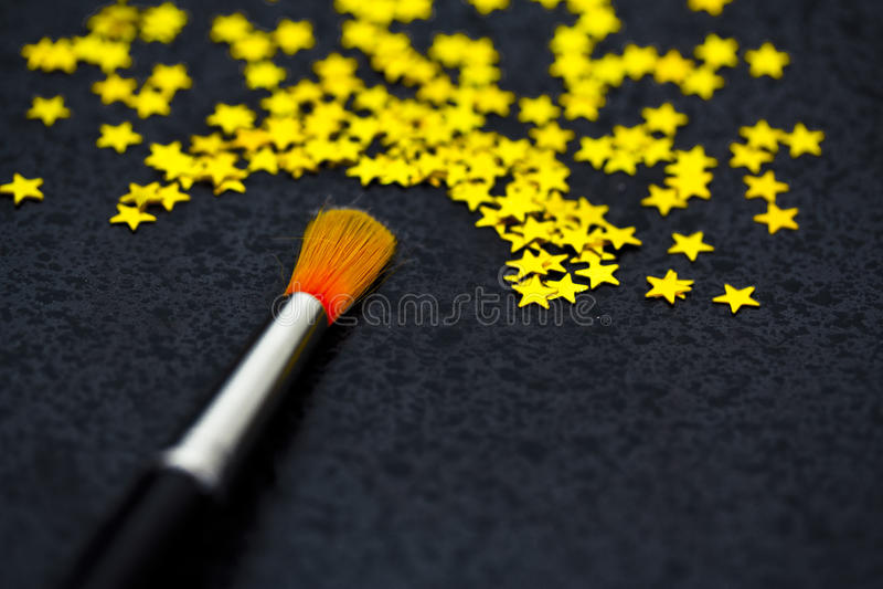 Принципиальная схема успеха: звезды картины щетки стоковое изображение rf
