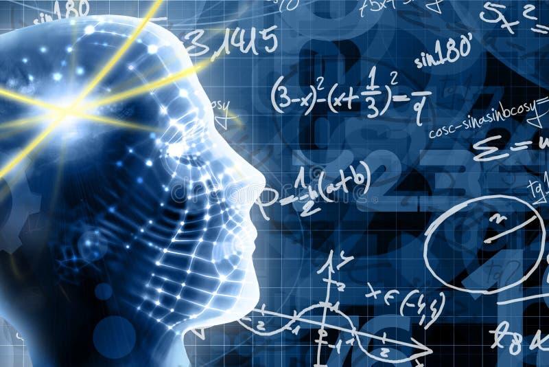 принципиальная схема учит математику иллюстрация вектора