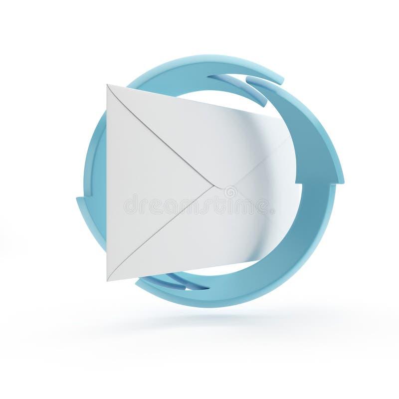 Принципиальная схема электронной почты иллюстрация штока