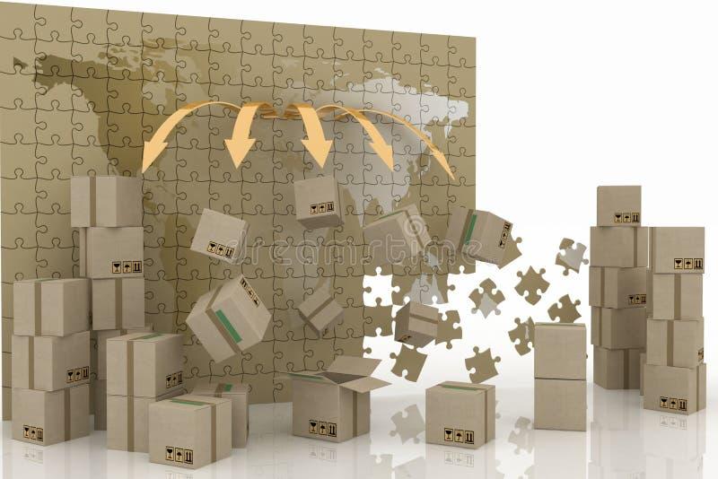 принципиальная схема 3d логистическая иллюстрация вектора