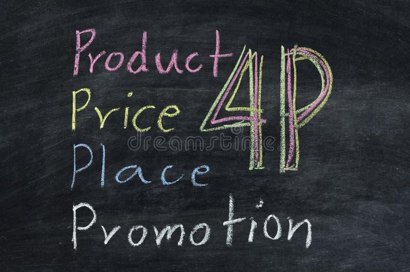 Принципиальная схема 4p маркетинга стоковая фотография