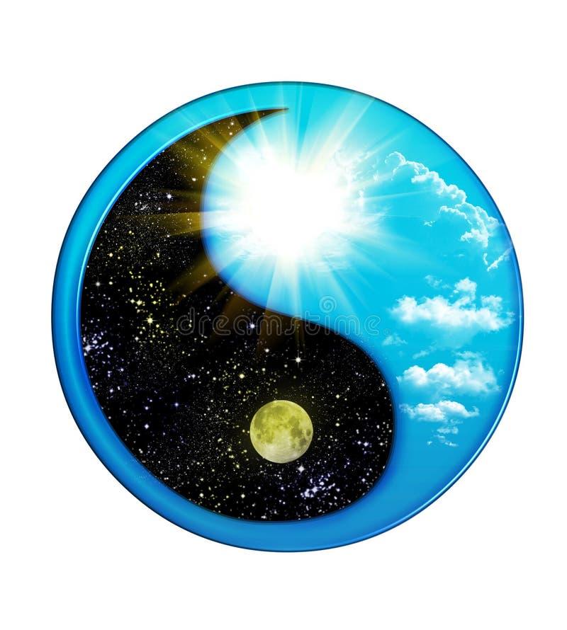 принципиальные схемы удваивают yin yang стоковая фотография