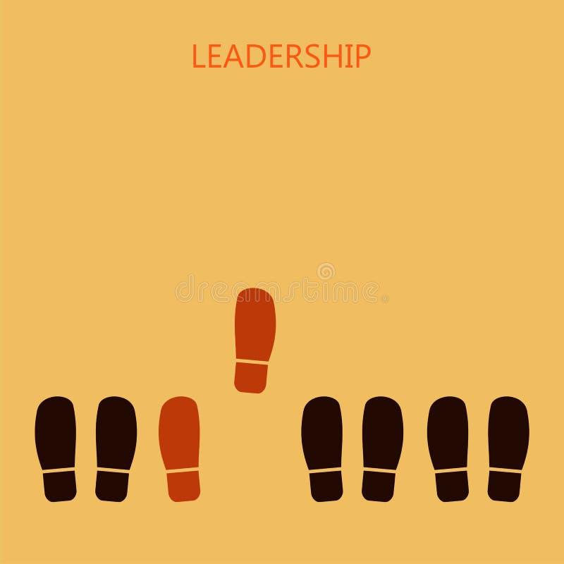 Принципиальная схема водительства Красное leader& x27; печати ботинка s Вектор Illustratio бесплатная иллюстрация