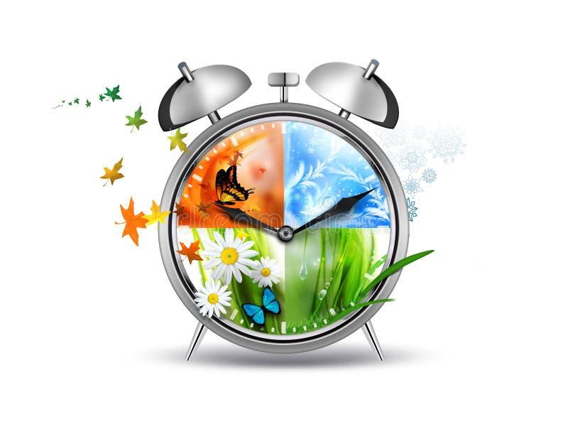 Принципиальная схема времени бесплатная иллюстрация