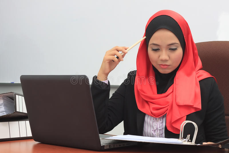 Принципиальная схема дела Muslimah стоковое фото rf
