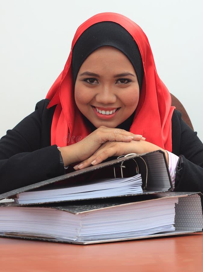 Принципиальная схема дела Muslimah стоковая фотография