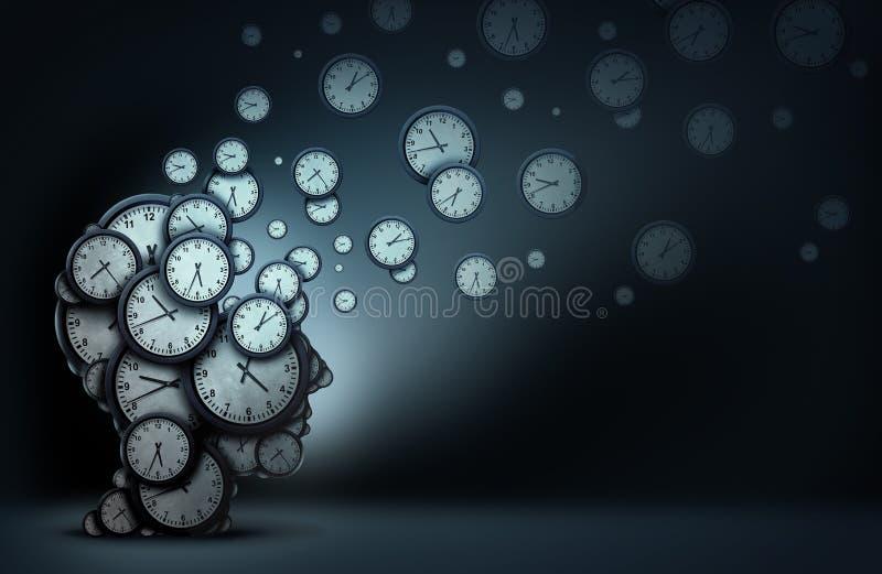 Принципиальная схема запланирования времени иллюстрация штока
