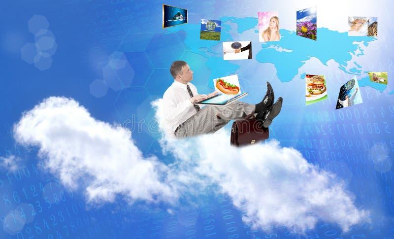 Принципиальная схема интернета стоковая фотография