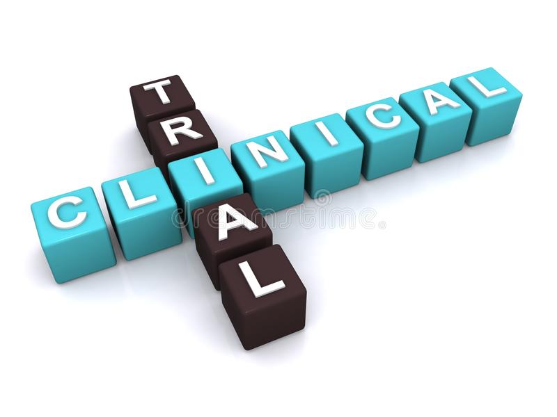 Принципиальная схема клинического испытания бесплатная иллюстрация