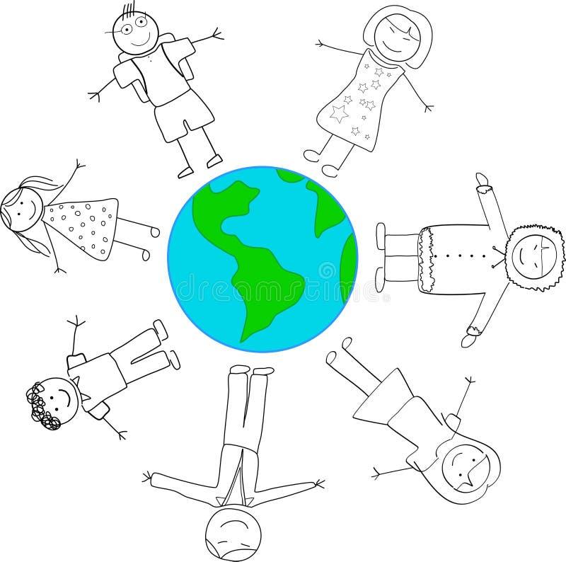 Принципиальная схема международного мира иллюстрация вектора