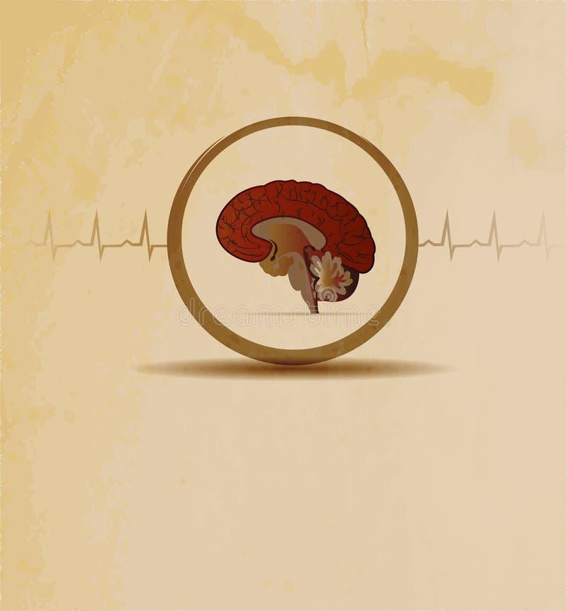 Принципиальная схема мозгов иллюстрация штока