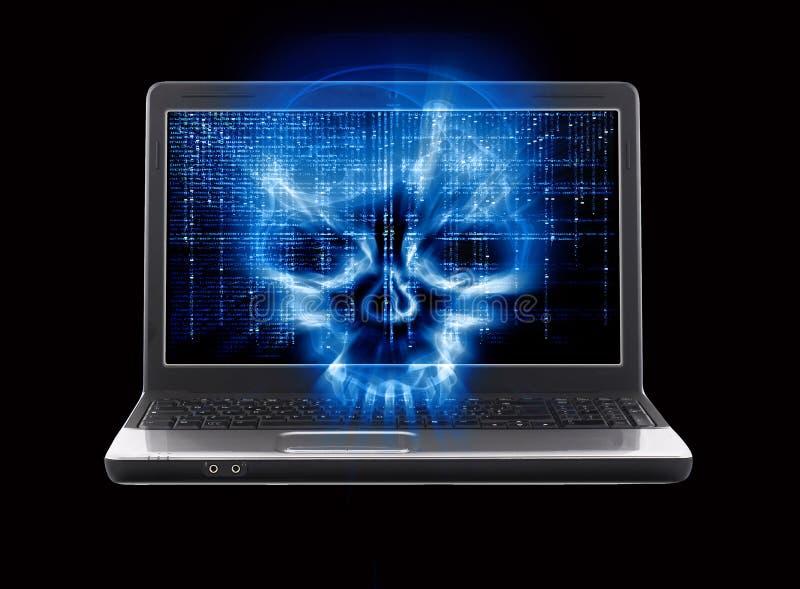 Принципиальная схема нападения хакера бесплатная иллюстрация