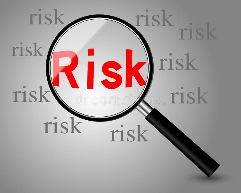 принципиальная схема предпосылки 3d представила риск белым бесплатная иллюстрация
