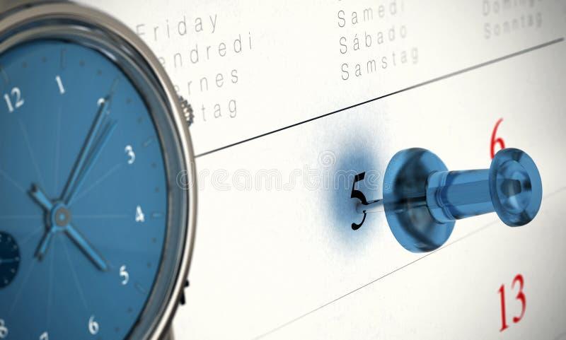 Принципиальная схема пунктуальности синхронизированная иллюстрация штока