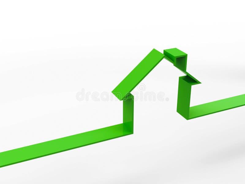 Принципиальная схема плана дома иллюстрация вектора
