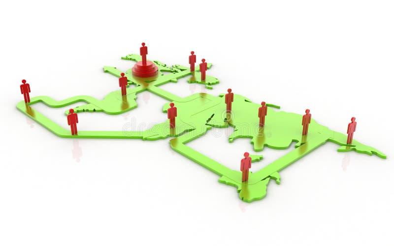 Принципиальная схема сети глобального дела стоковые изображения rf