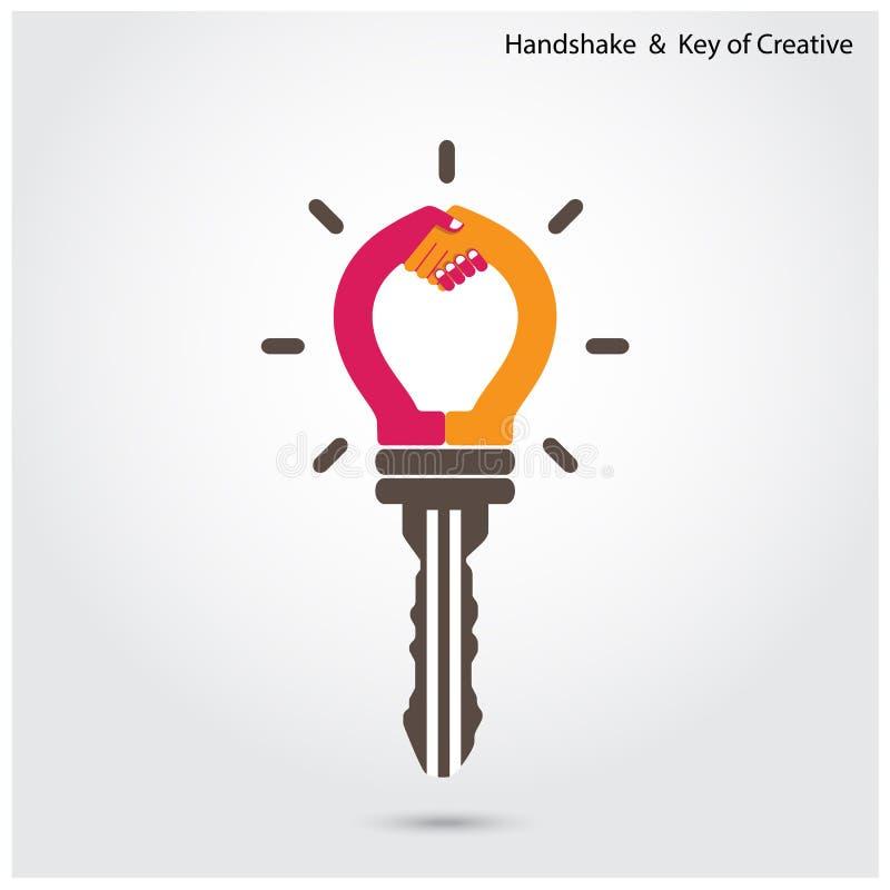 принципиальная схема соединяя сыгранность головоломки партнерства 4 рук Путь достижения цели Руки бесплатная иллюстрация