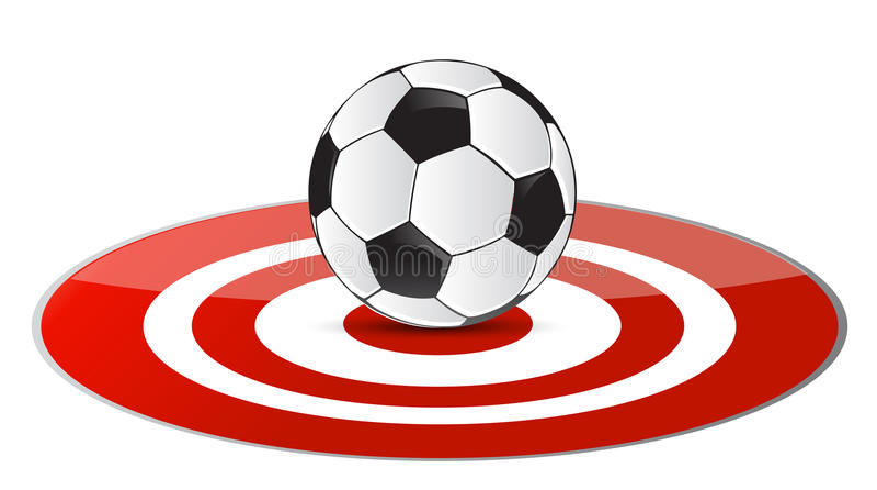 Принципиальная схема цели футбольного мяча иллюстрация вектора