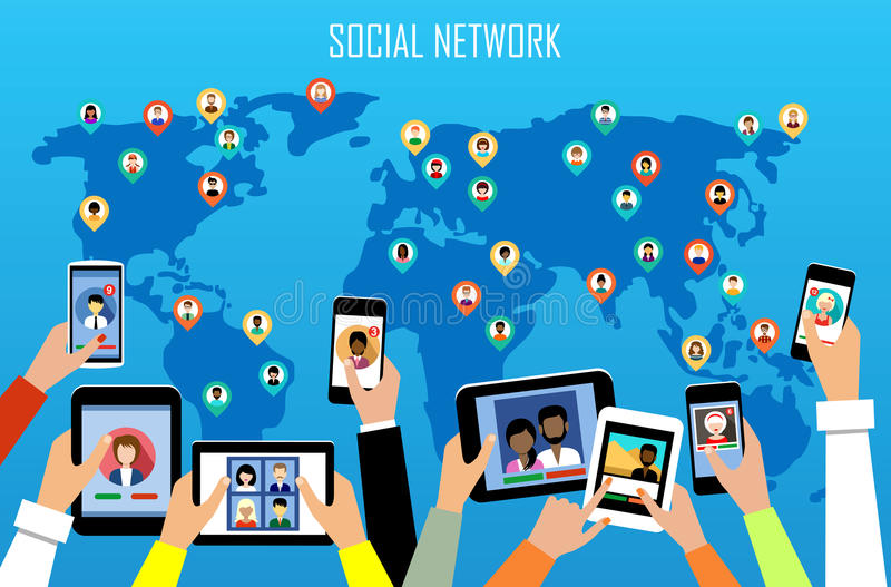 принципиальная схема цифрово произвела высокий social res сети изображения бесплатная иллюстрация