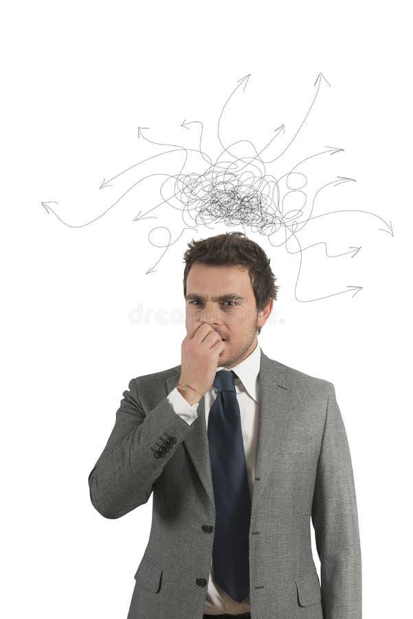 Confused бизнесмен стоковое фото rf