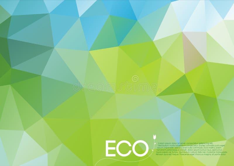 Принципиальная схема eco вектора абстрактная иллюстрация штока