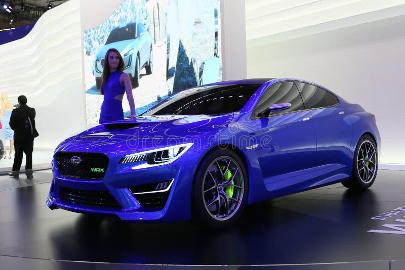 Принципиальная схема Subaru WRX стоковая фотография