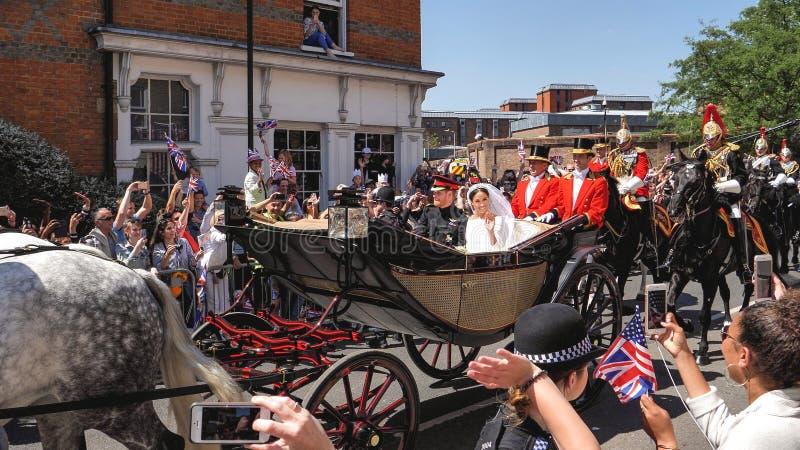 Принц Гарри, герцог Сассекс и Meghan, Duchess разрешения Сассекс стоковое изображение