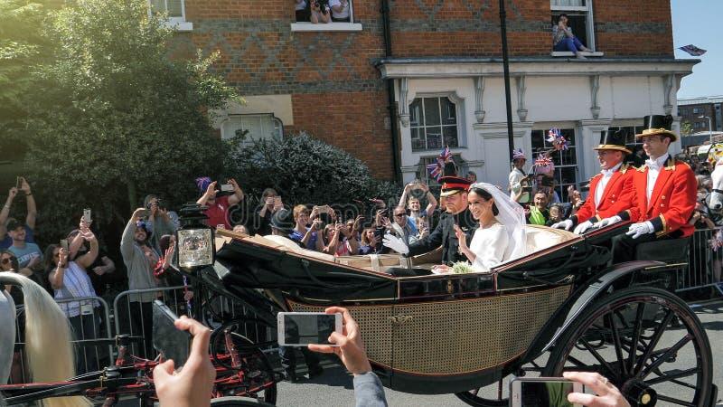 Принц Гарри, герцог Сассекс и Meghan, Duchess разрешения Сассекс стоковая фотография rf
