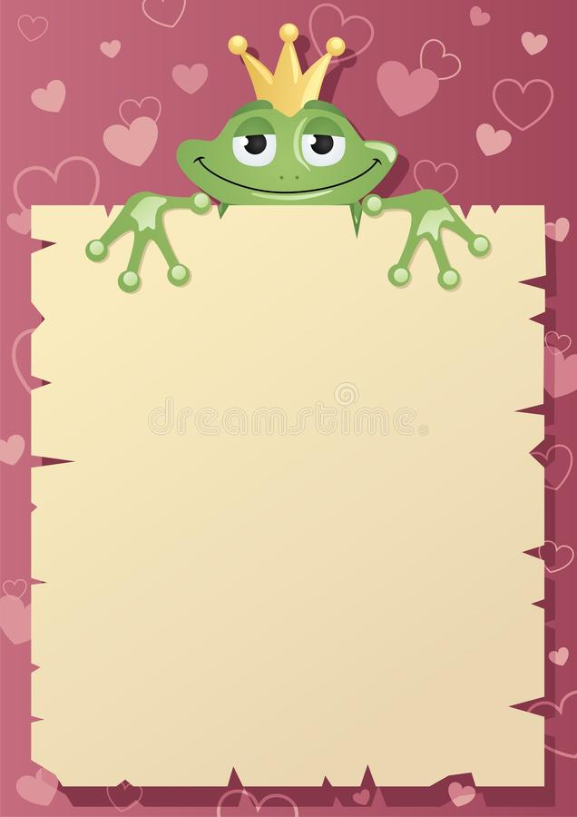 принц письма лягушки иллюстрация штока