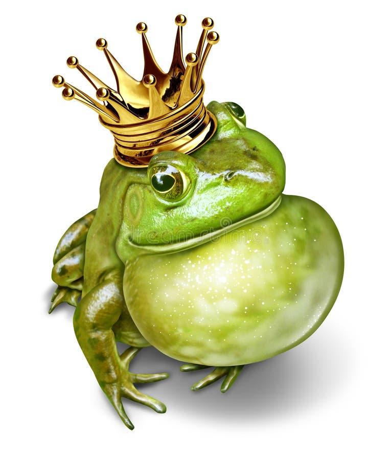 Принц Сообщение лягушки иллюстрация штока
