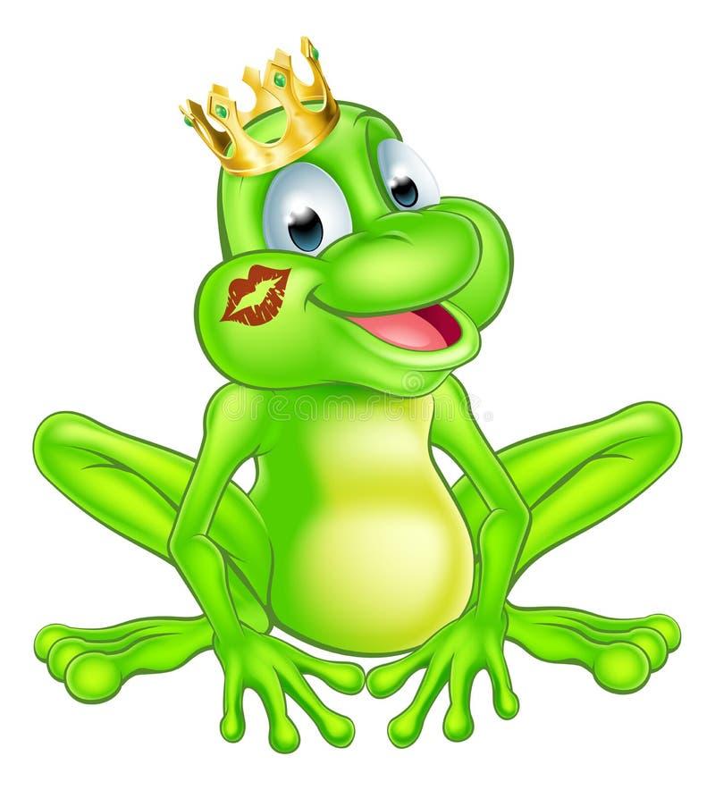 Принц лягушки шаржа иллюстрация вектора