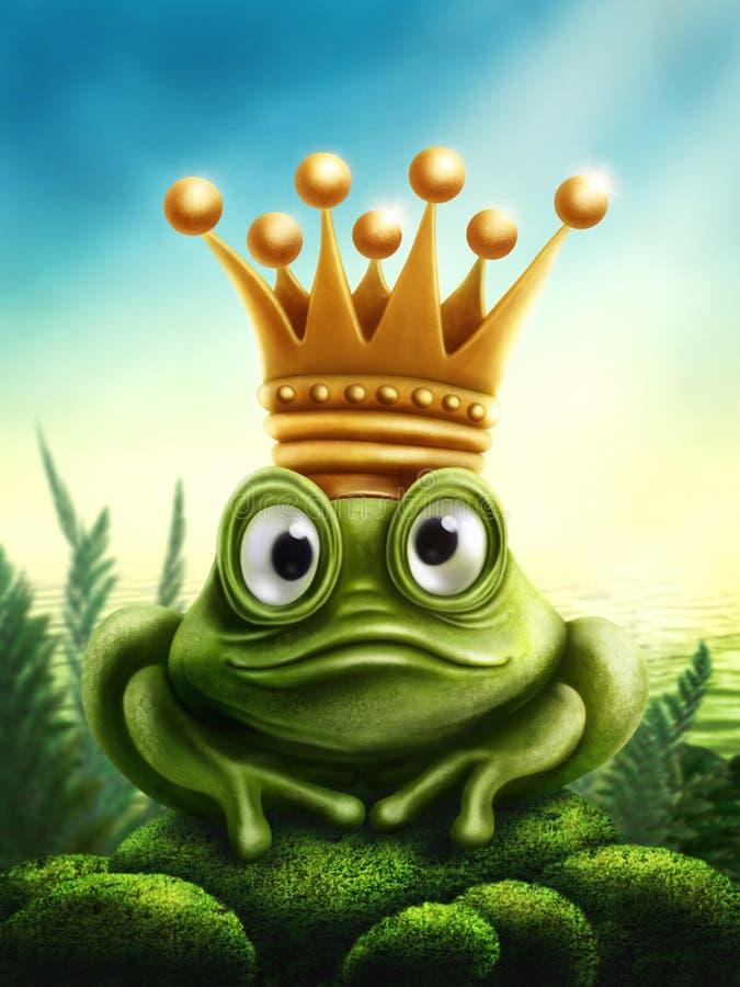Принц лягушки иллюстрация штока