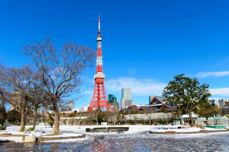 2011 принятая летом башня токио стоковые изображения
