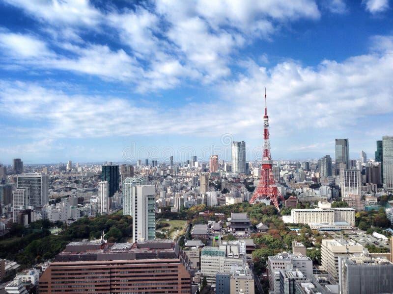 2011 принятая летом башня токио стоковое фото