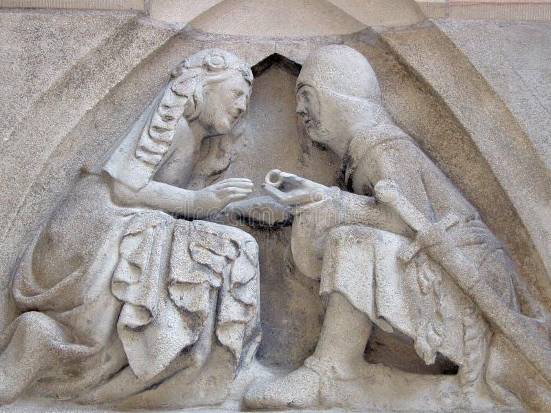 принятие окончательного решения средневековое стоковое фото