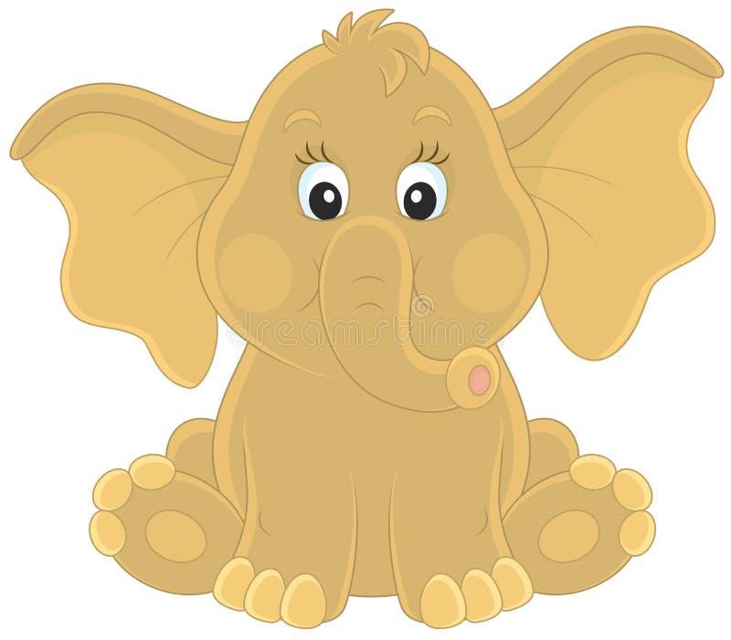 принятое фото 2009 слона младенца иллюстрация штока