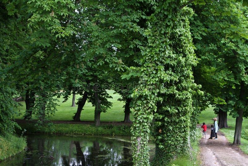 Припаркуйте в замке около Svenborg в Дании стоковые фото