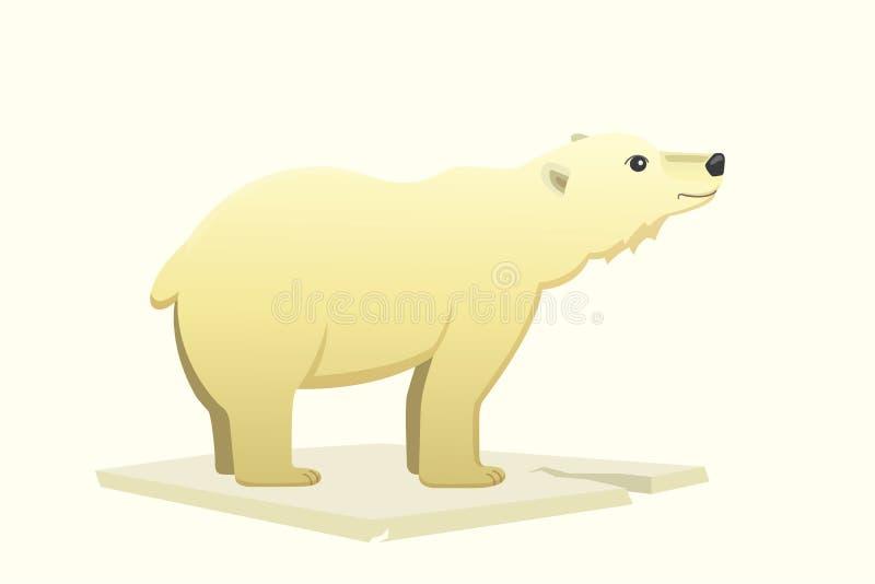Приполюсное животное арктики шаржа вектора белого медведя иллюстрация вектора
