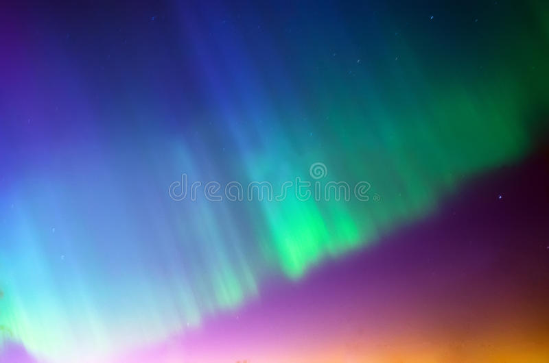 Приполюсное северное сияние северного сияния Звезды ночи неба стоковая фотография rf