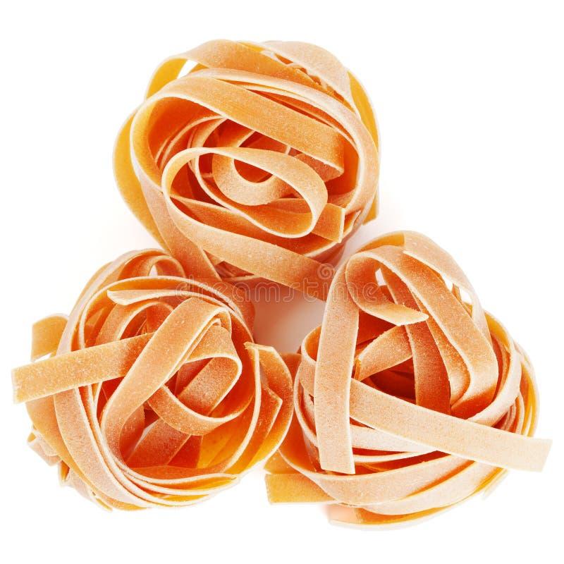 приправленный fettuccine томат макаронных изделия стоковое фото
