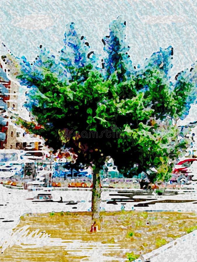 Природа в середине города стоковые изображения