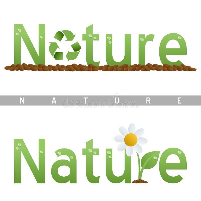 природа логосов главной линии иллюстрация вектора