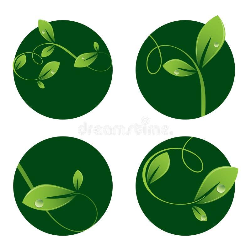 природа логосов иллюстрация вектора