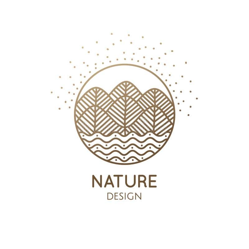 Природа логотипа иллюстрация штока
