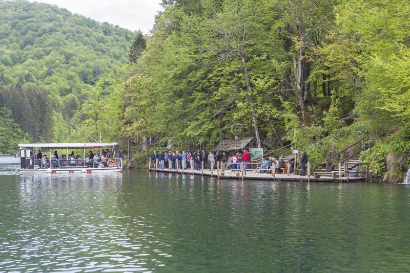 Природа национального парка озер Plitvice летом стоковая фотография rf