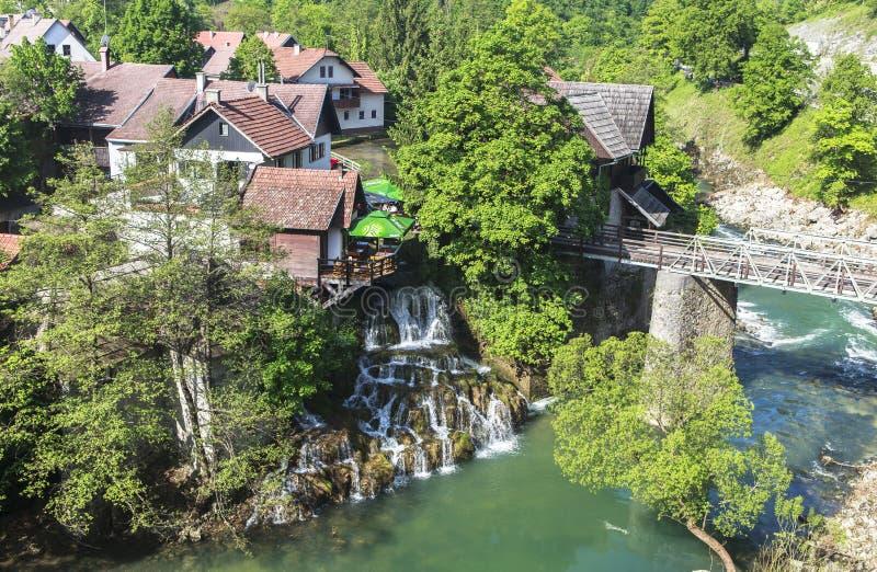 Природа национального парка озер Plitvice летом стоковые фото