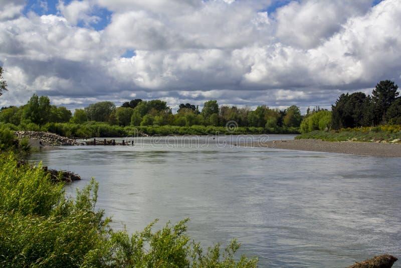 Природа окружая ландшафт реки Manawatu стоковая фотография rf