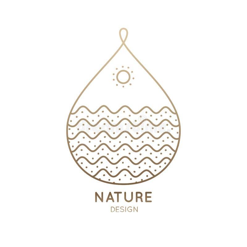 Природа падения логотипа иллюстрация вектора
